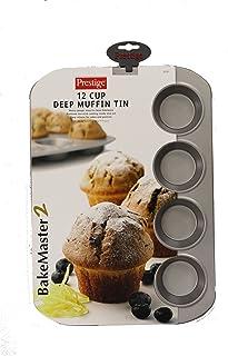 Prestige 57127 BakeMaster 2 Non Stick Muffin Tray, Grey, 12 Cup