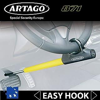 Artago 871A/B Barra Antirrobo Coche Volante Pedal Universal Cierre Basculante y Enganche fácil