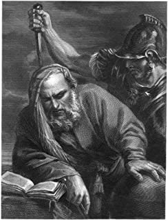 Archimedes (287-212 BC) Ngreek Mathematician And Inventor The Death Of Archimedes At The Hands Of A Roman Soldier Whose Challenge He Ignored While Absorbed In A Mathematical Problem Steel Engraving 19