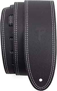 Perri's Leathers Ltd. - Guitar Strap - Leather - Double Stitched - Black - Adjustable - For Acoustic/Bass/Electric Guitars...