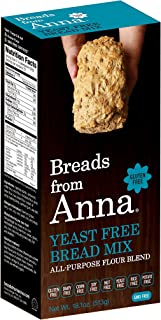 Breads from Anna, Yeast Free Bread Mix, Gluten yeast soy rice corn dairy and nut free, 18.1 oz