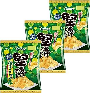 カルビー 堅あげポテト 柚子こしょう味 60g ×3袋
