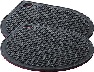 IKEA 365+ Gunstig–Salvamanteles, magnético, rojo, gris oscuro (Pack de 2)