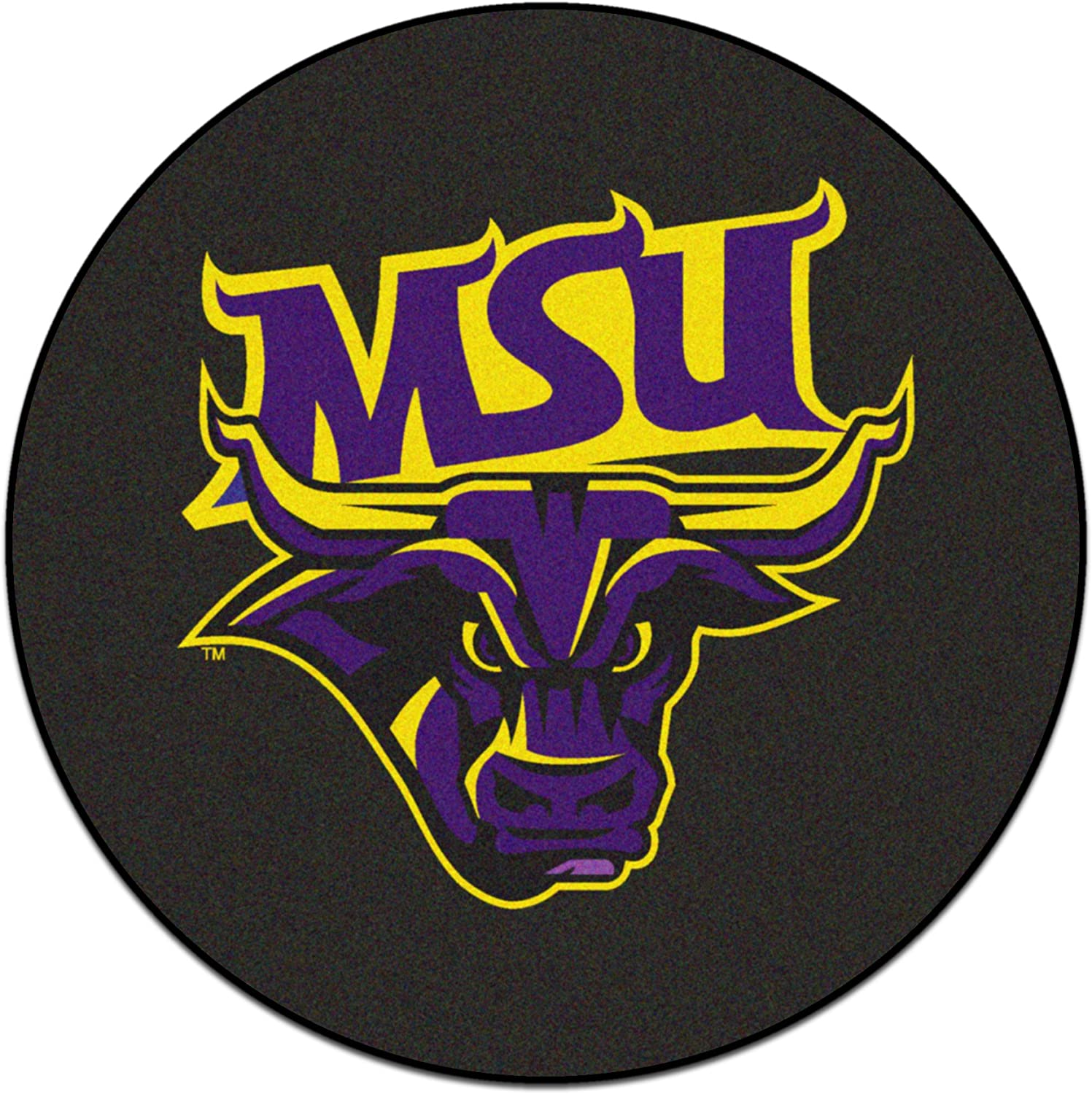 FanMats 19529-Fanmats Team color One Size MSU-Mankato Puck Mat 27  Diameter