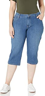 Women's Plus-Size Relaxed-Fit Denim Capri Jean