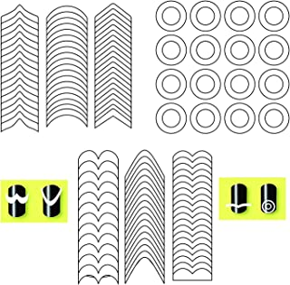 SYGA Set of 9 French Manicure Nail Stickers Nail Tips Smile Line Guide Stickers Nail Art Line Guide Stickers