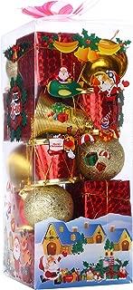 Assorted Christmas Ornaments Decoration Balls Santa's Factory Classic Hanging Xmas Pendants Balls Baubles Set for Christmas Tree Decorations Collections