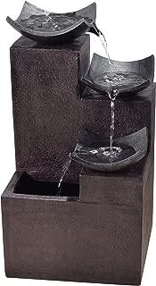Peaktop Outdoor Garden Tiered Modern Zen Fountain, 29