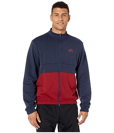 Nike SB Dri-Fit Track Jacket (Obsidian/Team Red/Summit White/Team Red) Men