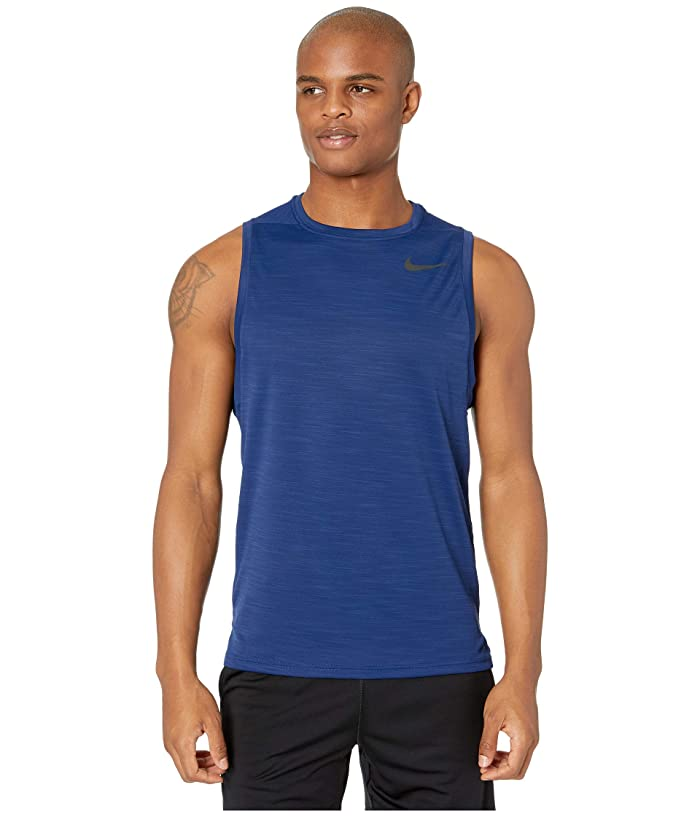Nike Superset Top Tank (Blue Void/Black) Men