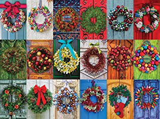 WHITE MOUNTAIN Puzzles Holiday Wreaths Jigsaw Puzzle