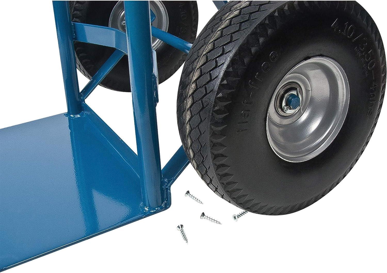 Dual Handle 46-Inch Height 600-lbs Capacity Kleton Flat Free Wheel Hand Truck