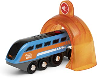 Brio 33971 Smart Tech Sound Record & Play Engine | Wooden Toy Train for Kids Age 3 and Up