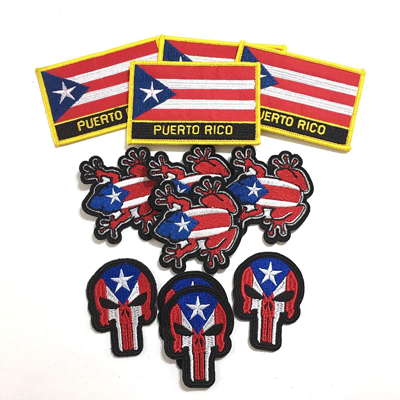 Mad can studios Puerto Rican Rico Flag Patches Clothing Backpacks Jeans Hats Jackets and Much More Boricua (12)