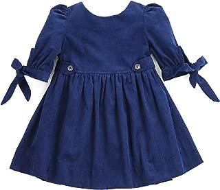 Toddlers Girls Winter Thistle Tie-Sleeve Corduroy Dress (2-7/8)