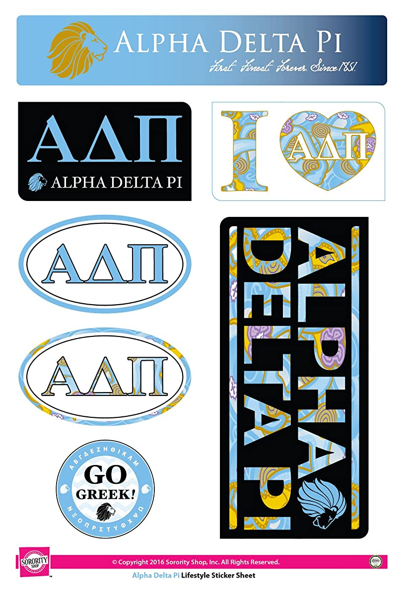 Alpha Delta Pi - Sticker Sheet - Lifestyle Theme