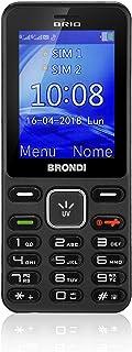 Brondi Brio 10274080 Cellulare Barphone Dual Sim, Nero/Titanio