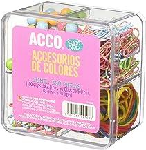 ACCO P4598 Set de Clips y Accesorios de Colores, color Fresa