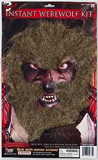 Forum Novelties Instant Werewolf Facial Hair Brown