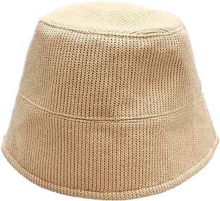 Bucket Hats Women Winter Fisherman Cap Vintage Wide Brim Basin Knitted Unisex