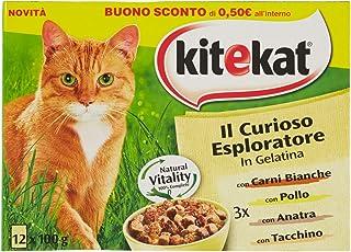 Kitekat Multipack curioso esploratore- bolsas húmedo de gelatina para gatos 12sobres x 100gr.