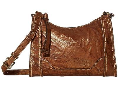 Frye Melissa Metallic Zip Top Crossbody (Bronze) Handbags