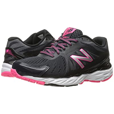 New Balance 680v4 (Thunder/Black/Alpha Pink) Women