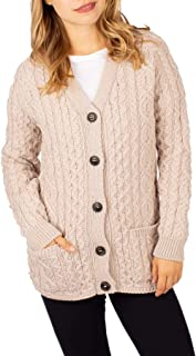 Peregrine Made In England Holly Womens Cardigan Small Ivory