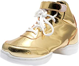 Nene's Collection Gold Women's Dance Fitness Ankle High Top Sneakers Nene's Shoes