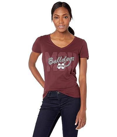 Champion College Mississippi State Bulldogs University V-Neck Tee (Maroon 1) Women