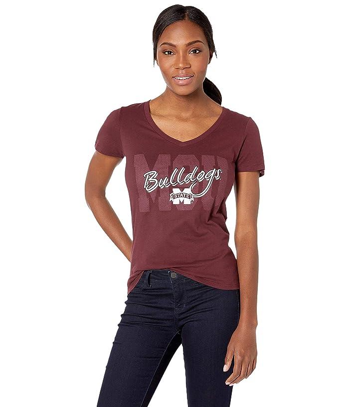 Champion College Mississippi State Bulldogs University V-Neck Tee (Maroon 1) Girl