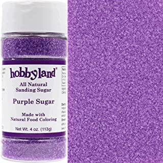 Hobbyland Sanding Sugar (Purple Sugar, 4 oz) Handcrafted with All Natural Food Coloring