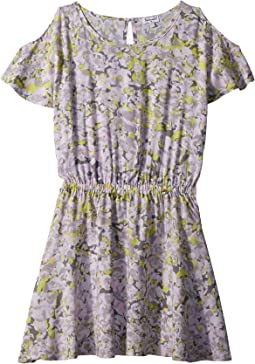 Cold Shoulder Voile Dress (Big Kids)