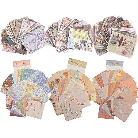 580 Feuilles Fournitures de Papier de Scrapbooking Vintage Fournitures de Papier Journalisation Matériel de Papier Décoratif Esthétique pour Écriture Dessin Bricolage Artisanat