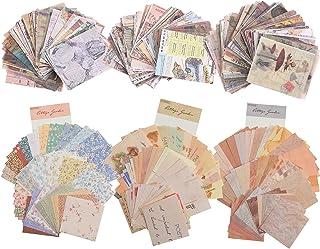 580 Feuilles Fournitures de Papier de Scrapbooking Vintage Fournitures de Papier Journalisation Matériel de Papier Décorat...