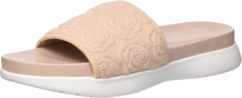 Taryn pink Womens Iris Knit Slide Sandal