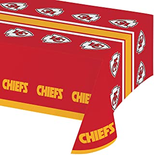 Kansas City Chiefs Plastic Tablecloths, 3 ct