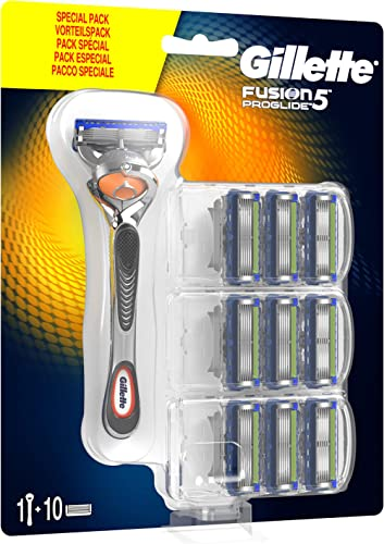 Gillette Fusion5 ProGlide Special Pack, 1 Handle + 10 Blade Refills, Packaging May Vary