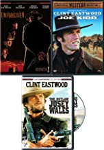 Clint Western Eastwood Collection Unforgiven + The Outlaw Josey Wales & Joe Kidd DVD Movie Bundle pack Triple Feature