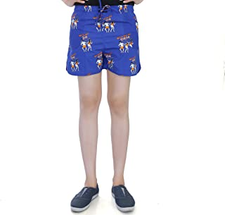 Flamboyant Women's Blue Cotton Shorts