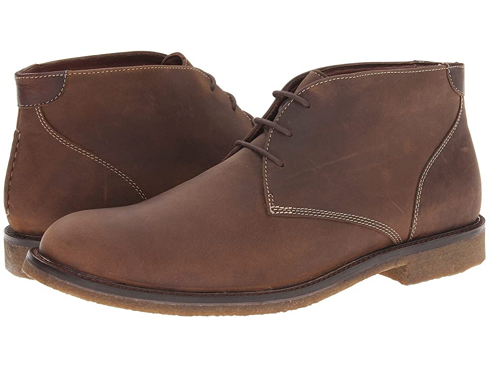 Johnston & Murphy Copeland Casual Chukka Boot (Tan Oiled Full Grain) Men