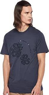 Armani Exchange Men's 3GZTLD T-Shirt, Blue (Blue Night 1581), Small