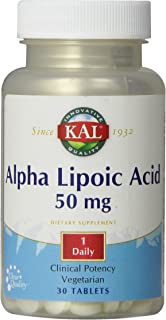 KAL Alpha Lipoic Acid Capsules, 50 mg, 30 Count