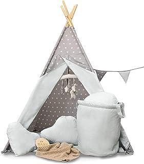 Golden Kids barn lektält tepee tipi set för barn inomhus utomhus leksak tält indianertipi med fönster etc. tipi med och ut...