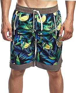 Men Swim Trunks Floral Quick Dry UPF 50 Board Shorts