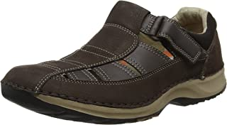 ROCKPORT Mens Rocsports Lite Five Fisherman Sandal in Chocolate.