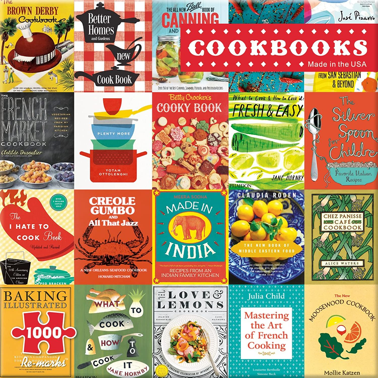 Re-Marks Cookbooks 1000 Piece Puzzle