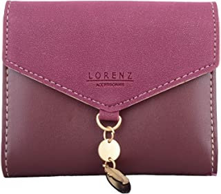 Womens Faux Leather Tri-Fold Money/Coin/Credit Card Wallet
