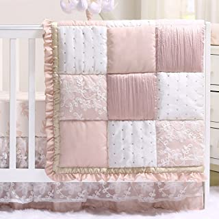 Pink And Teal Baby Bedding