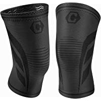 2-Pack Cambivo Knee Brace Compression Sleeve Support for Running, Arthritis, ACL, Meniscus Tear, Sports, Joint Pain Relief and Injury Recovery (Ns70/Black)